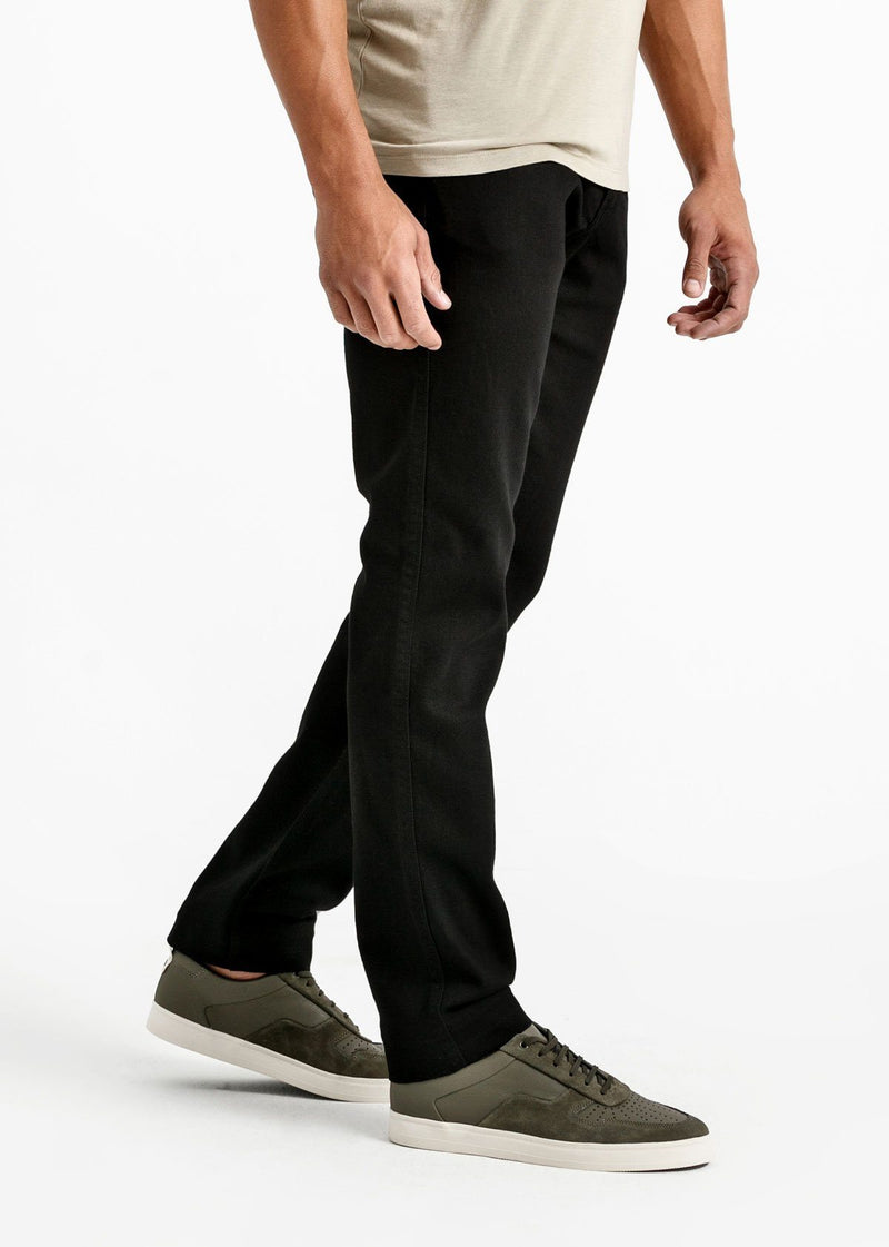 mens black relaxed fit stretch jeans side