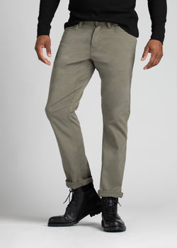 mens grey lightweight straight fit pant front
