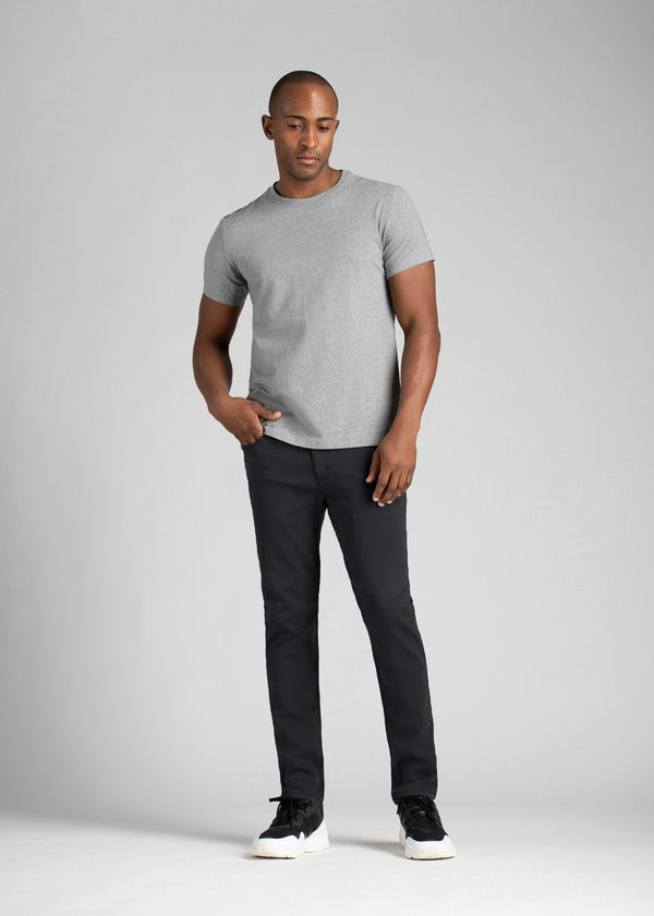 mens slim dark grey dress sweatpant full body front