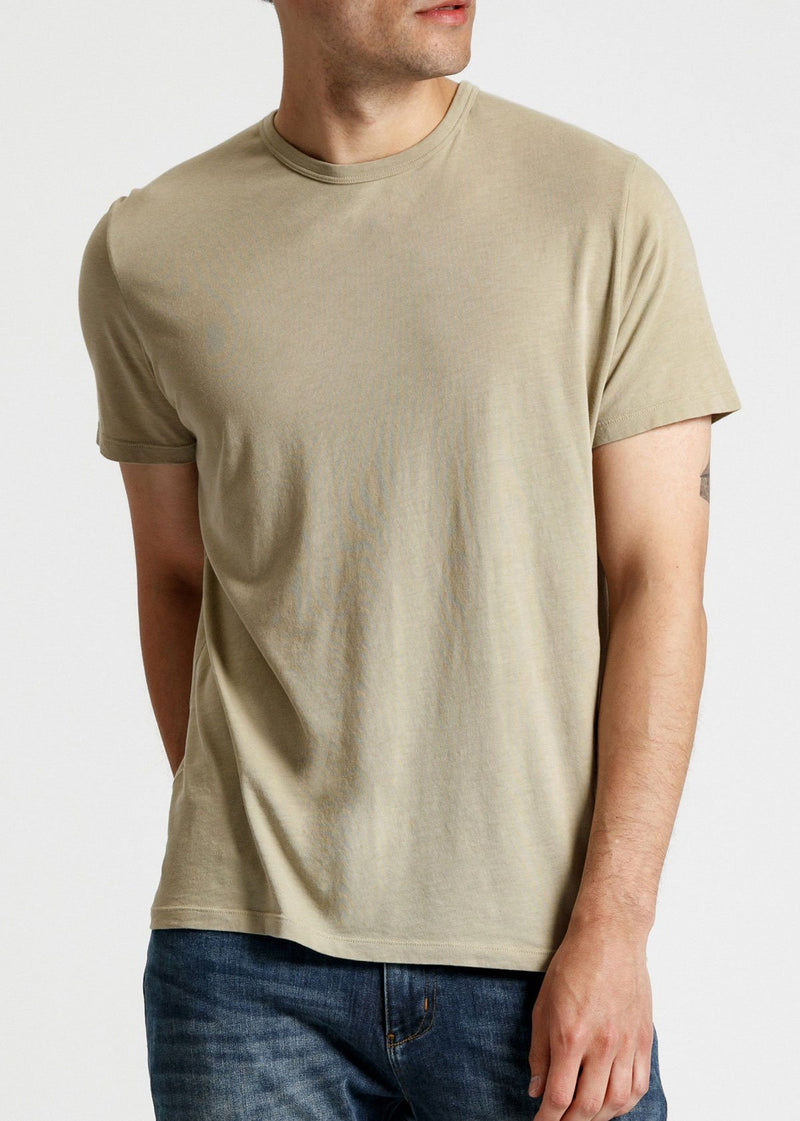 mens soft lightweight t shirt light green front