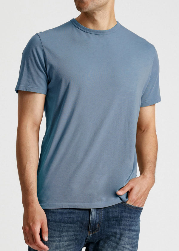 mens soft lightweight t shirt light blue front