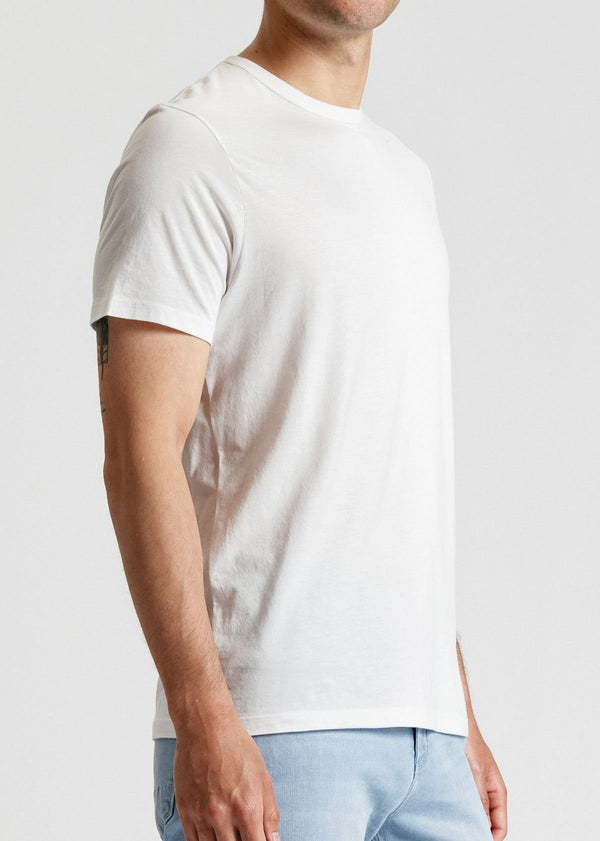 mens soft lightweight t shirt white side