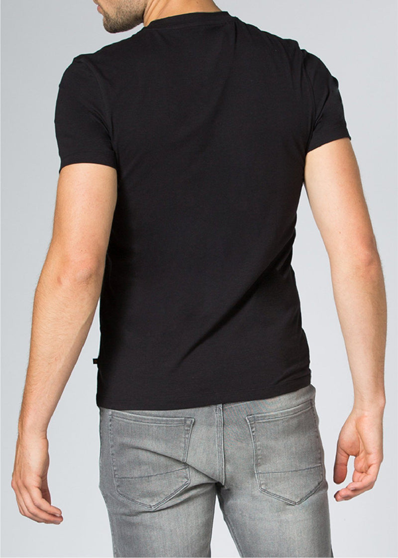 mens black breathable lightweight t-shirt back