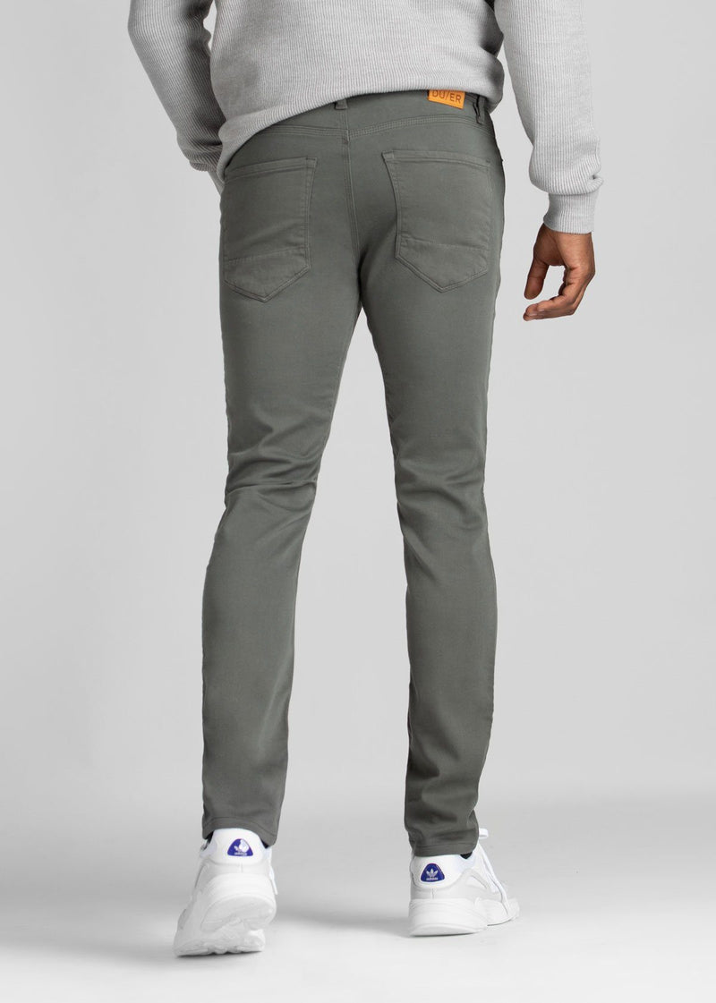 mens grey slim fit dress sweatpant back