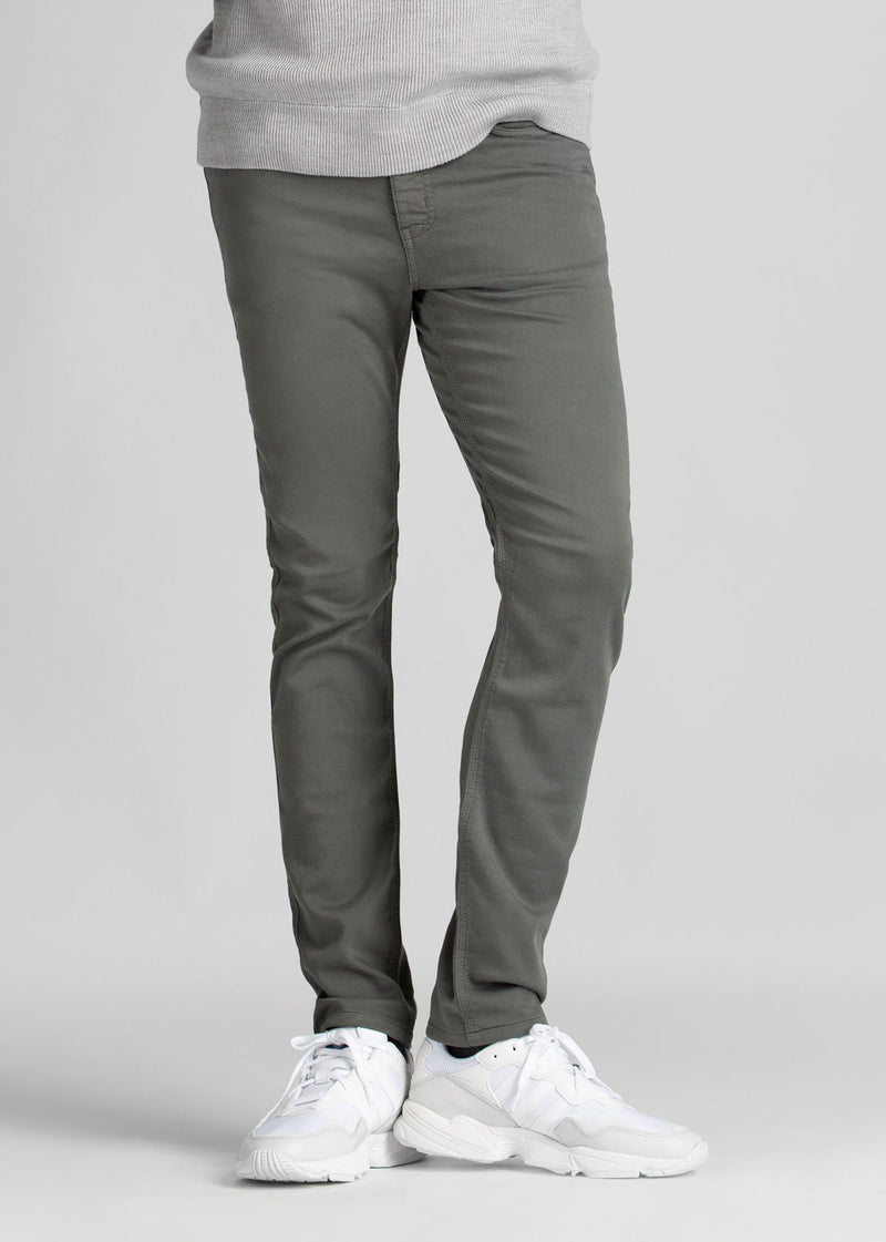 mens grey slim fit dress sweatpant front