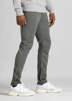 mens grey slim fit dress sweatpant side