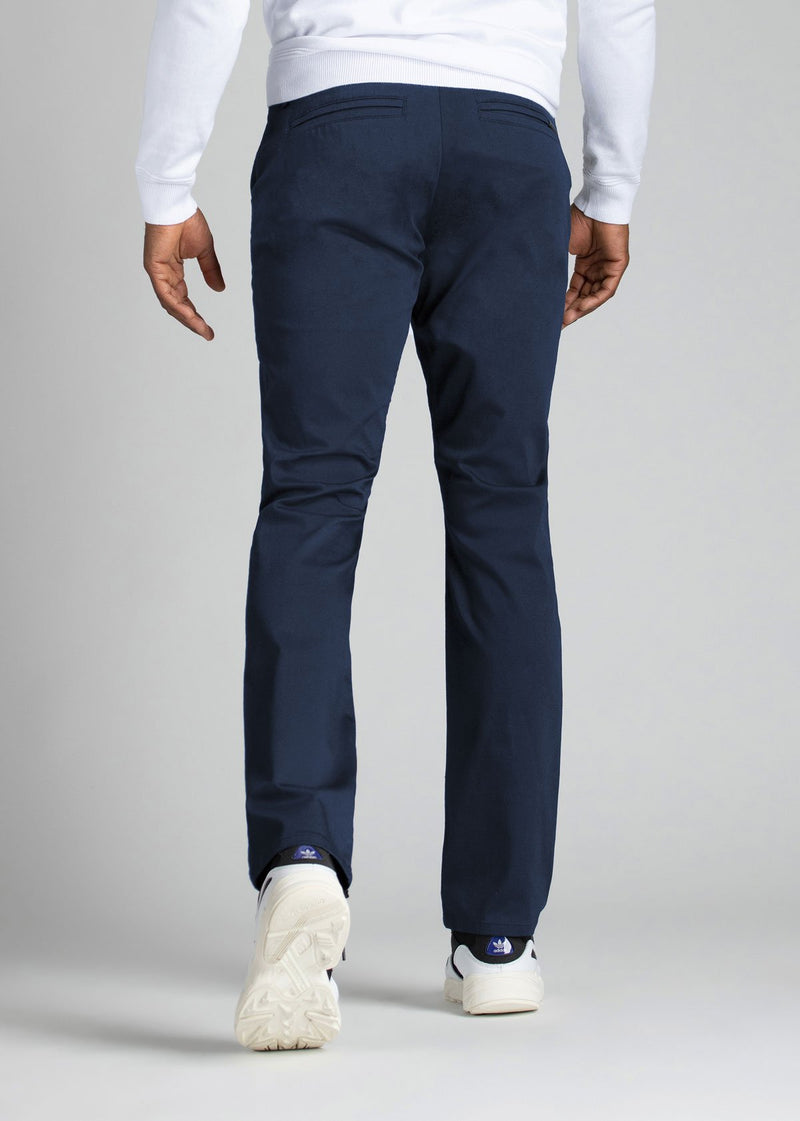 mens navy stretch work pants relaxed back