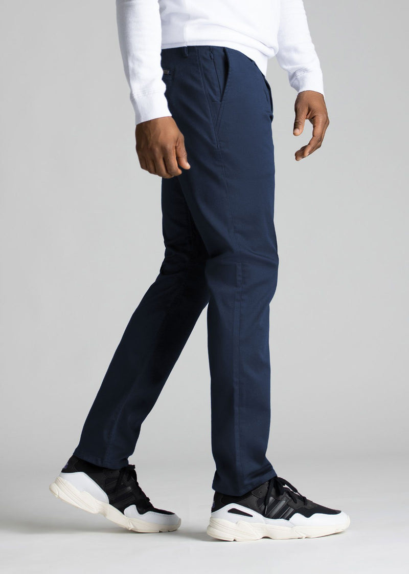 mens navy stretch work pants relaxed side