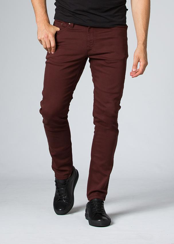 oxblood slim fit dress sweatpant front