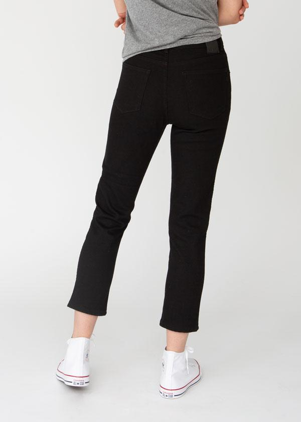 womens-black-cropped-slim-straight-stretch-denim-back
