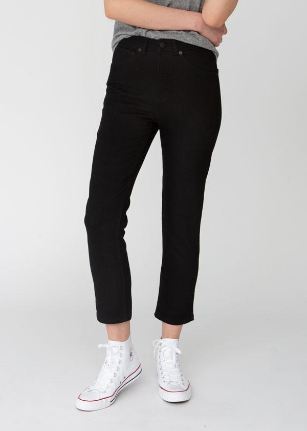 womens-black-cropped-slim-straight-stretch-denim-front