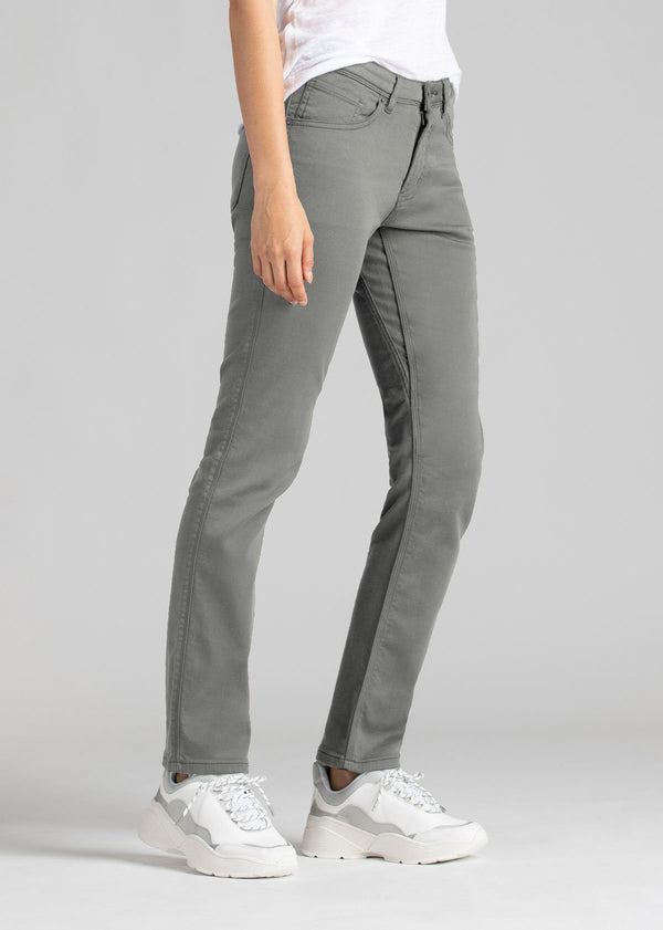 womens grey slim straight fit dress sweatpant side