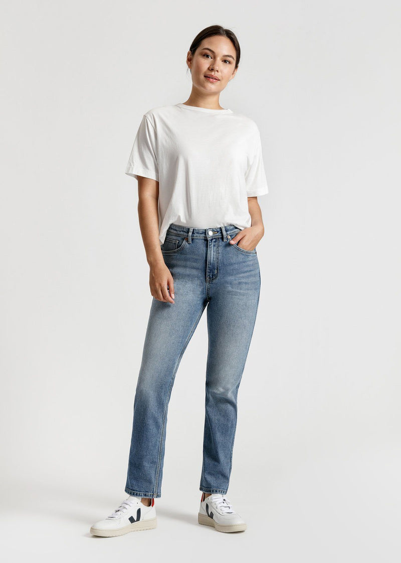 Midweight Denim High Rise Straight
