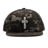 805 BORN Hat Black Camo With PATCH - PRE ORDER