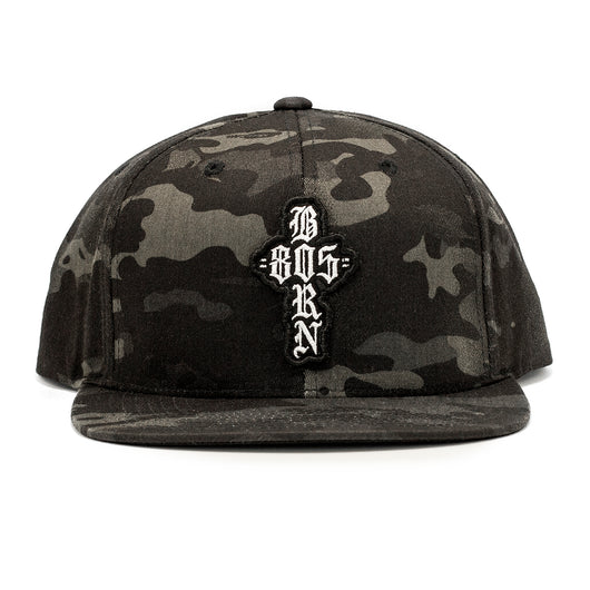 805 BORN Hat Black Camo With Patch