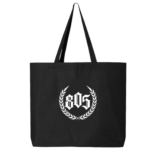 805 CREST JUMBO TOTE BAG IN BLACK