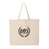 805 CREST JUMBO TOTE BAG IN NATURAL