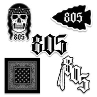 805 NATIVES - 5 PACK STICKERS - 805 CLOTHING