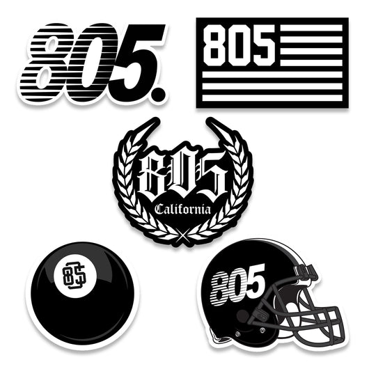 805 SPORT - 5 PACK STICKERS - 805 CLOTHING