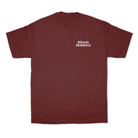 805 & Co Tee In Maroon With White - 805 CLOTHING