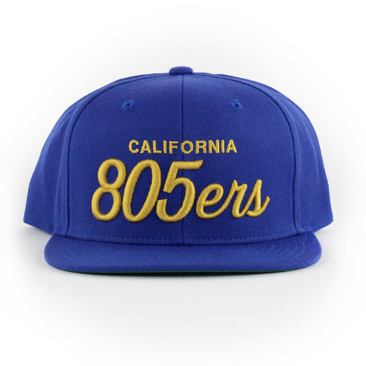 805ers Hat In Royal With Gold - 805 CLOTHING