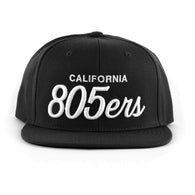 805ers Hat In Black With White