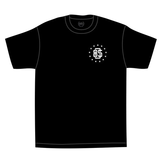 805 Athletic Tee In Black With White - 805 CLOTHING