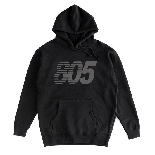 805 Balance Hoodie In Black With Charcoal - 805 CLOTHING