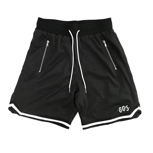 805 Mesh Basketball Shorts In Black - 805 CLOTHING