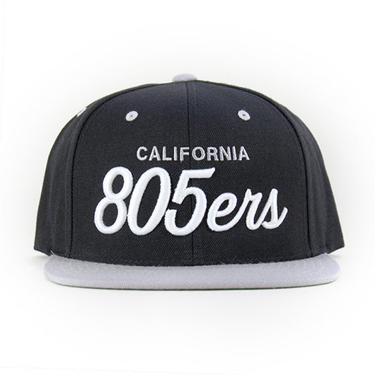 805ers Hat In Silver & Black - 805 Clothing