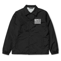 805 Flag Coaches Jacket In Black With White - 805 CLOTHING