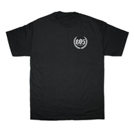 805 Crest Tee In Black With White - 805 CLOTHING