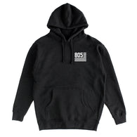 805 Flag Hoodie Black With White - 805 CLOTHING