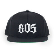 805 Hat In Black With White - 805 CLOTHING