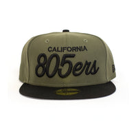 New Era 805ers Fitted Hat In Olive/Black