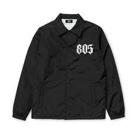 805 Coaches Jacket Black With White - 805 CLOTHING