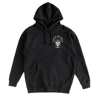 805 Skull Hoodie Black With White