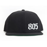 Small 805 Hat In Black With White - 805 CLOTHING