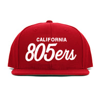805ers Hat In Red With White - 805 CLOTHING