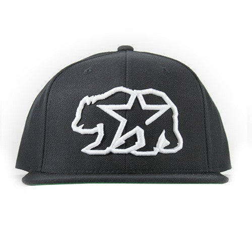 Cali Bear Hat In Black With White - 805 CLOTHING