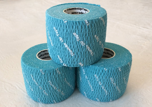 Thumbs Up Tape WIDE 2-Inch (3 Rolls) - Original Blue Color, 2 inches x 7.5 yards
