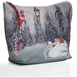 Makeup Bag in Nutcracker Print