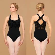 Bloch Adults Floriade Mesh Wide Strap detail Leotard