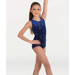 Body Wrappers Gymnastics Bodysuit- Blue Galaxy