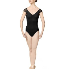 Mirella Adults Gather Mesh Capsleeve Bodysuit