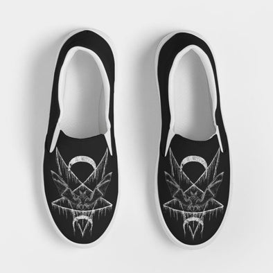 Bat Wing Pentagram Slip-On Men's Canvas Shoe