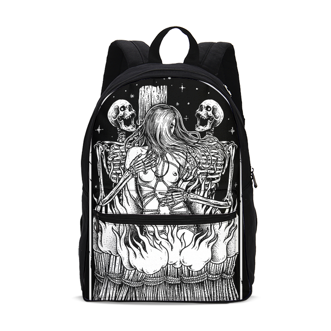 Burning Witch Canvas Backpack