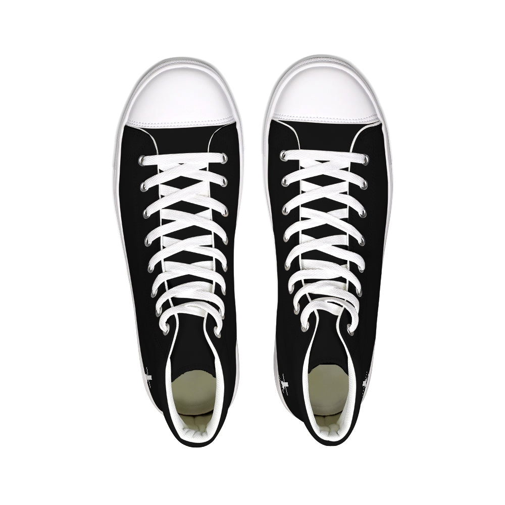 Cross Noose High Tops- Black