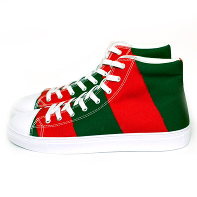 Freddy Striped Hightop Canvas Shoe