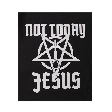 Signed Not Today Jesus Canvas Backpatch